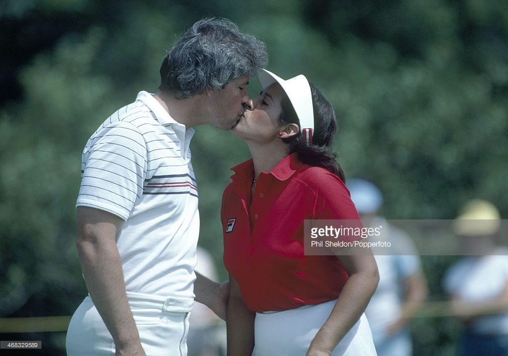 Source: Getty Images (Nancy Lopez and her husband Tim Melton)