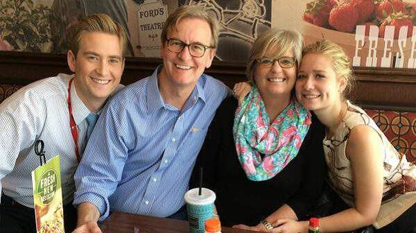 Peter Doocy with his family