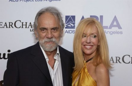 Tommy Chong with gracious, Wife Shelby Fiddis