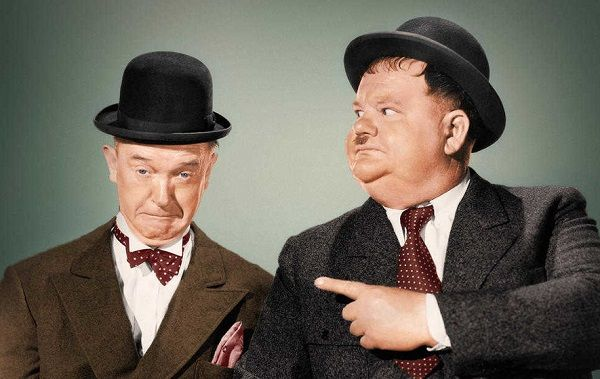 Image result for comedian oliver hardy in 1957