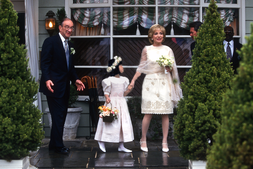 source: ecelebrityfacts (Andrea Mitchell and Alan Greenspan wedding day)