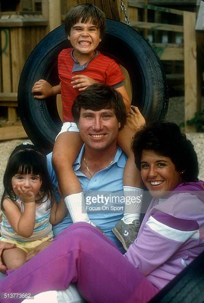 Source: gettyimages.co.uk ( Nancy Lopez with her husband Ray Knight of the New York Mets and daughter Ashley Knight and son Brooks Knight )