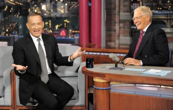 Source: NY Daily News (Tom Hanks with David Letterman)