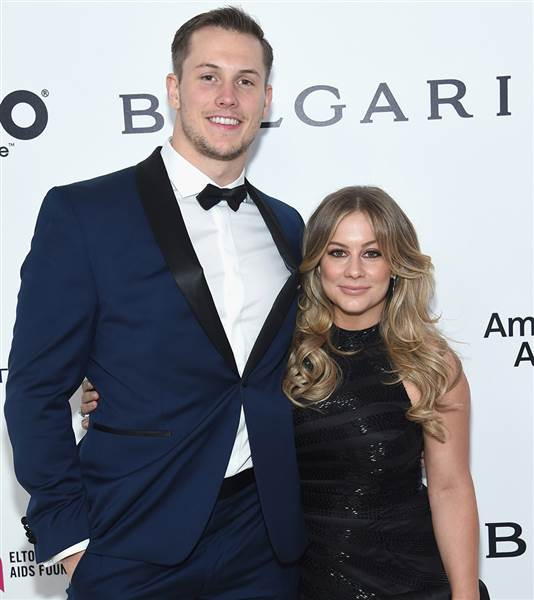 Source: today.com (Shawn Johnson and her husband)
