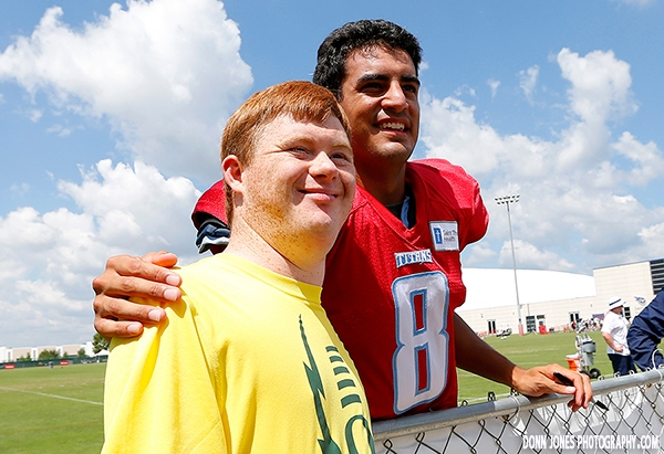 Source: Tennessee Titans (Marcus with his fan)