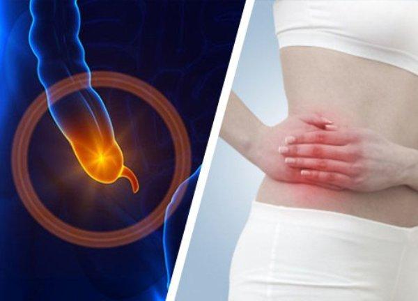 Source: Appendicitis (Pain of appenditicitis in the right lower abdomen)