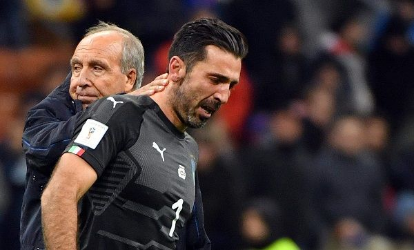 Buffon and Ventura after the defeat