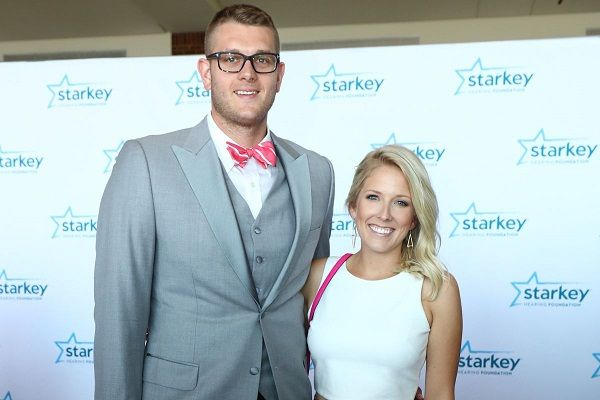 Cole Aldrich and his wife Brittany Claflin