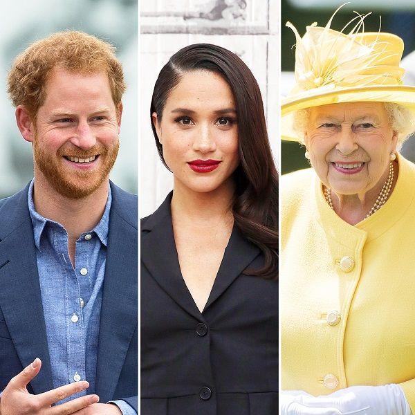 Source: US Weekly (Queen Elizabeth II, Prince Harry and Meghan Markle)