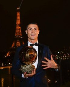 Cristiano Ronaldo wins his fifth Ballon d'Or and equals the record with Lionel Messi