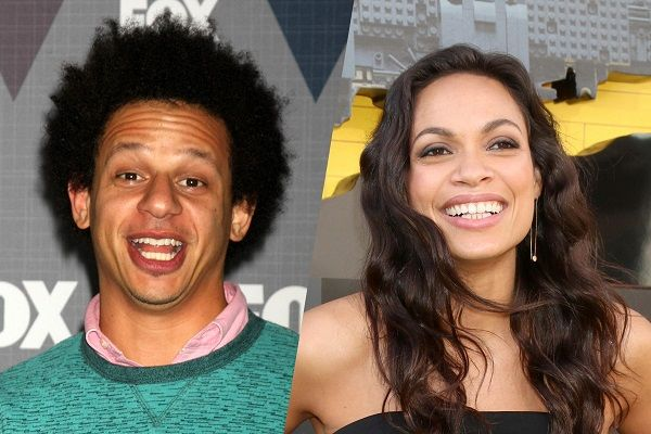 Source: Hollywood.com (Eric Andre and Rosario Dawson)