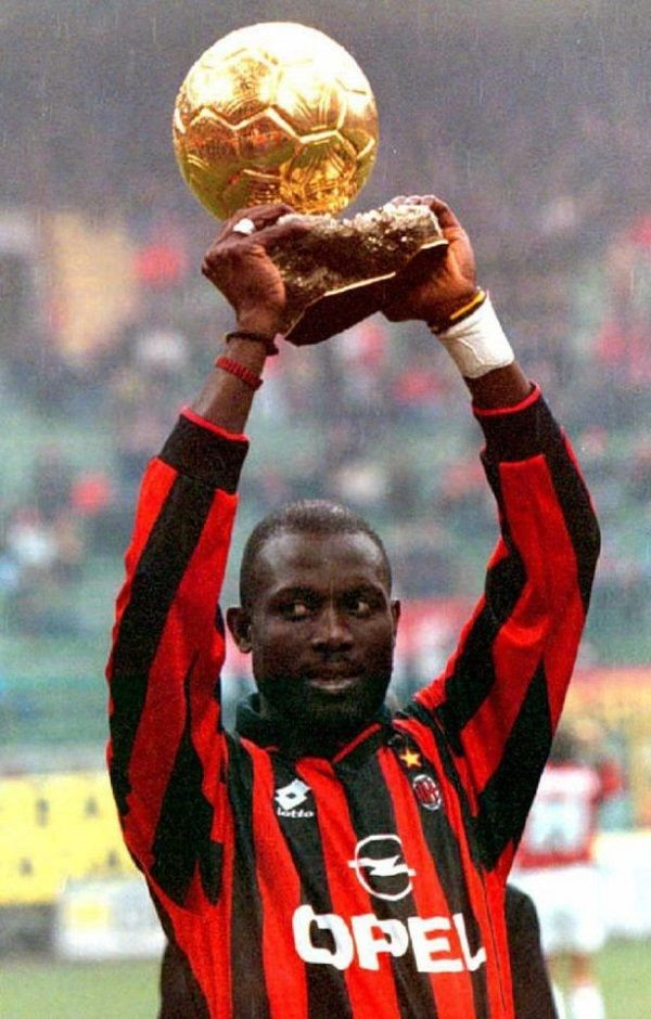 George Weah after winning the Ballon d'Or