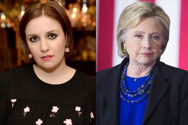 Source: EW Magazine (Lena and Hillary Clinton)