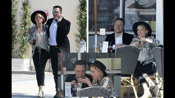 Amber Heard and Elon Musk in a lunch date