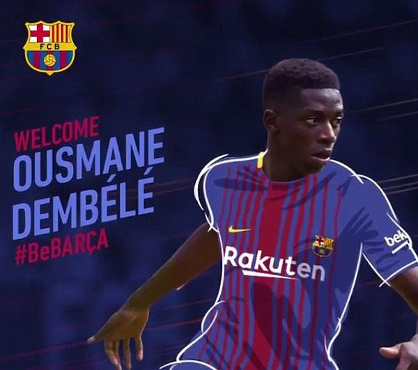 Barcelona confirmed the signing of Ousmane Dembele