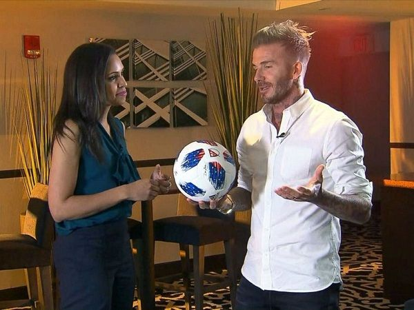 David Beckham speaking about his new team on ABC News.