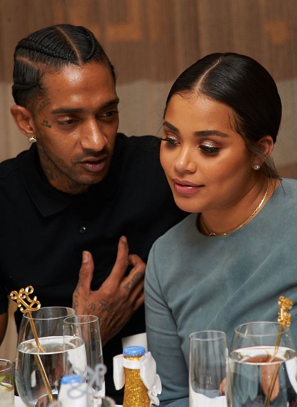 Source: nuhitz.com (Lauren London and Nipsey Hussle)