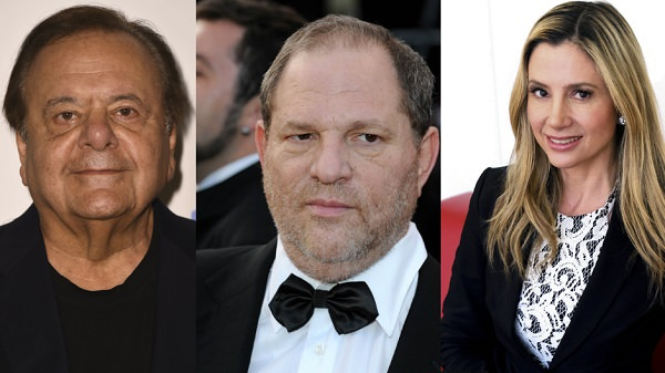 Source: Crime Online (Mira Sorvino, Paul Sorvino and Harvey  Weinstein)