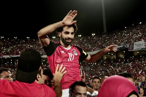 Mohamed Salah after reaching the 2018 World Cup