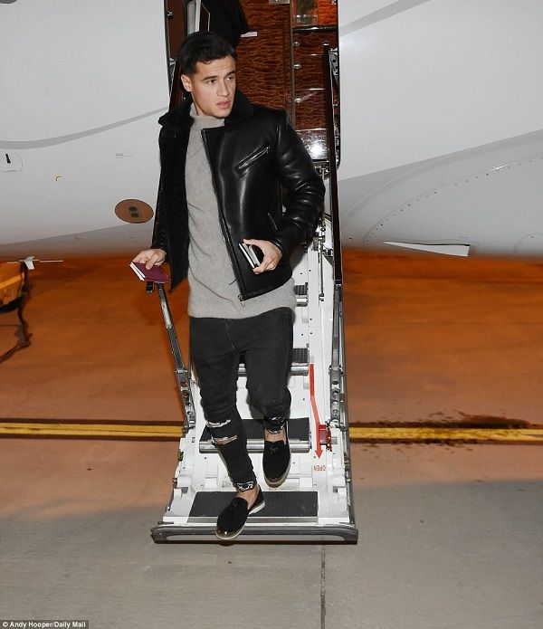Philippe Coutinho arrived at Barcelona ahead of his £142 million move
