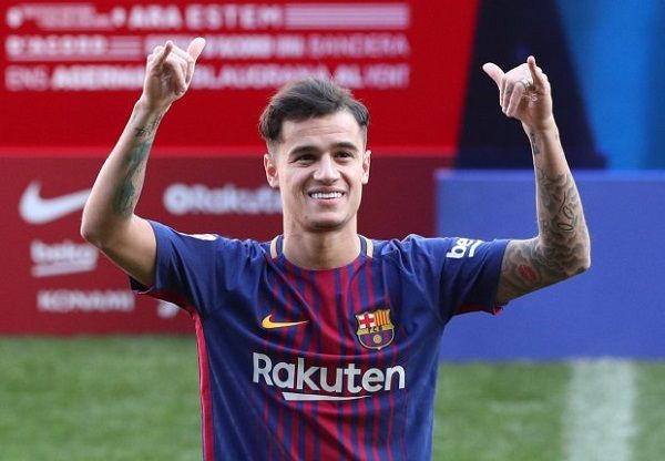 Philippe Coutinho unveiled as a Barcelona player