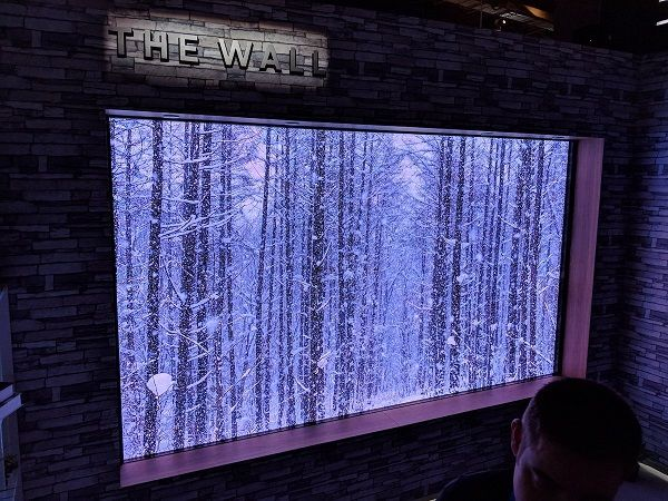 Samsung's 146 inches MicroLED TV, The Wall