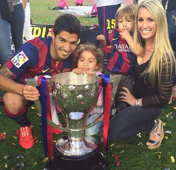 Luis Suarez and his family