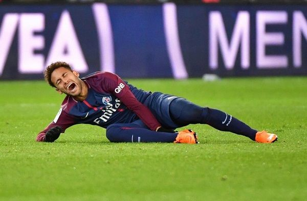 Neymar suffered from an injury