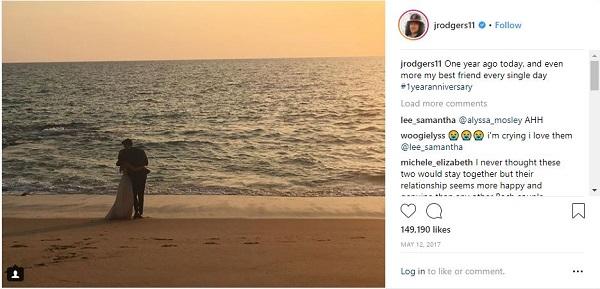 Jordan Rogers' post on his anniversary