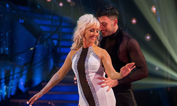 Debbie and her partner on Strictly Come Dancing