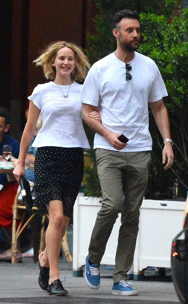 American actress Jennifer Lawrence has a dinner date with ...