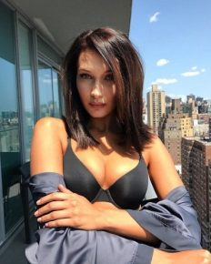 Decide for yourself! Bella Hadid has plumper lips but denies use of any fillers!