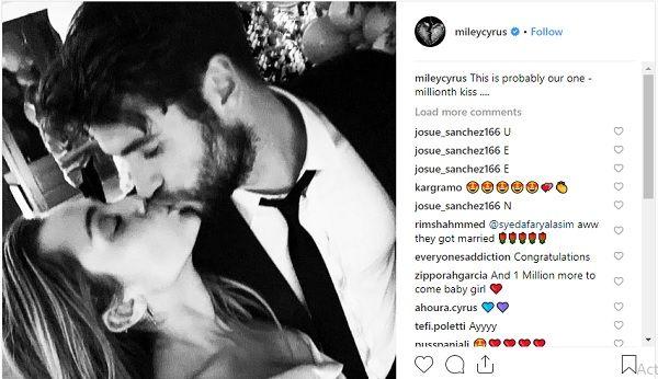 Miley Liam wedding pic