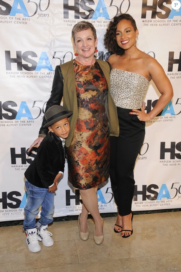 Alicia Key's son and her mother