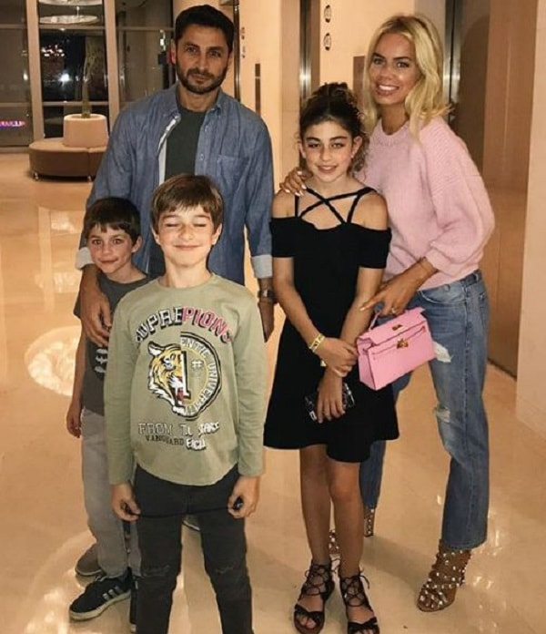 Caroline Stanbury with her family