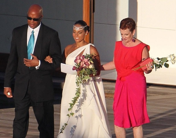 Terria Joseph with her ex-husband and daughter