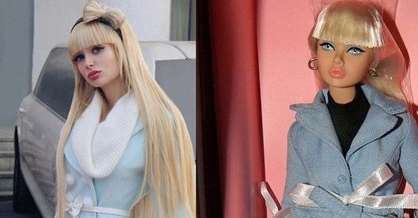 Angelica Kenova raised as living barbie doll
