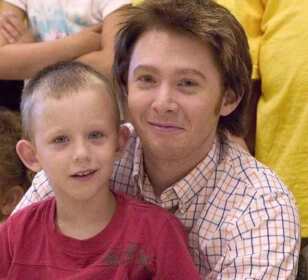 Clay Aiken and his son