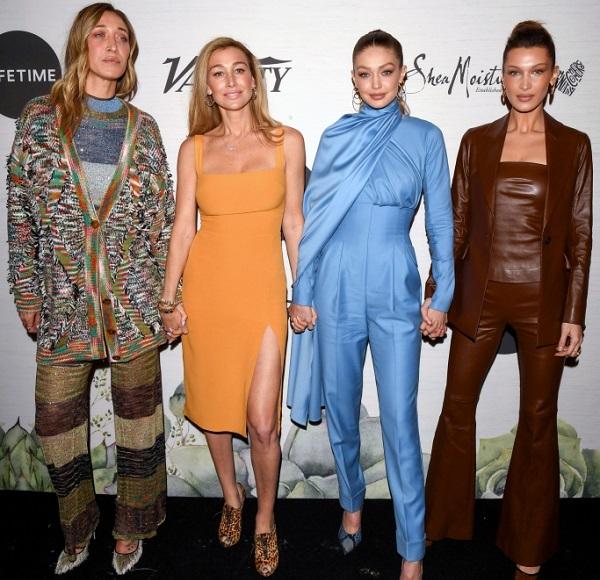 Hadid Sisters Marielle Hadid, Alana Hadid, Gigi Hadid and Bella Hadid