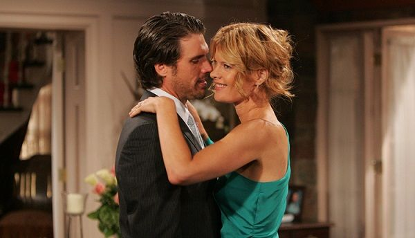 Michelle Stafford and Joshua Morrow in The Young and the Restless
