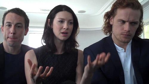 Outlander Stars Caitriona Balfe,Sam Heughan & Tobias Menzies