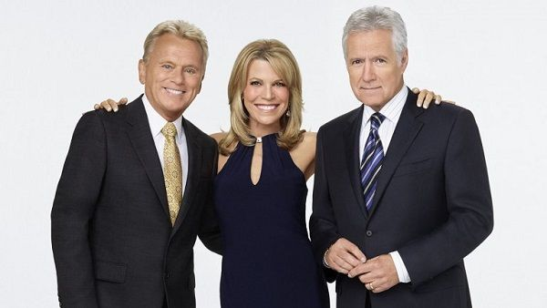 Pat Sajak, Vanna White and Alex Trebek