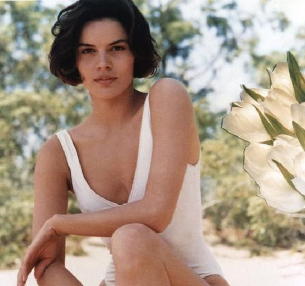 Tahnee Welch in white swimsuit