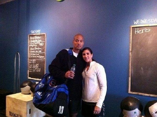 David Goggins with Aleeza Goggins