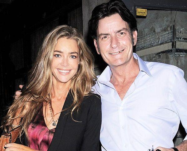 Denise Richards and her ex-husband Charlie Sheen