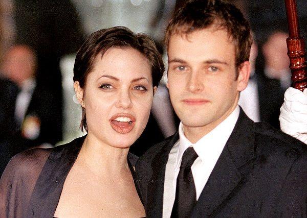 Jonny Lee Miller and Angelina Jolie