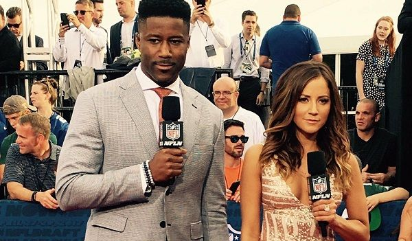 Kate Adams and Nate Burleson