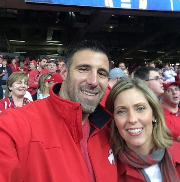 Mike Vrabel and his wife Jen Vrabel