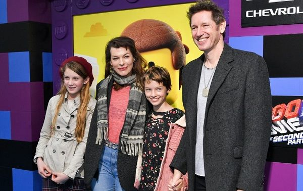 Milla Jovovich and her family