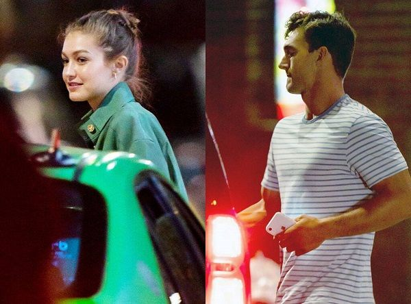 Tyler Cameron Hangs out with Gigi Hadid